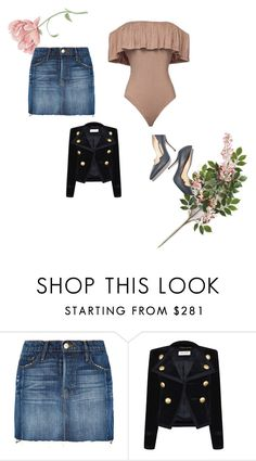 """""""date night"""" by inspiredbyart345 ❤ liked on Polyvore featuring Frame Denim, Yves Saint Laurent and Paul Andrew"""