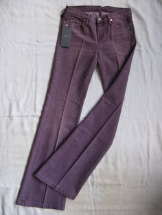 7 SEVEN for all MANkiND Damen Mauve Jeans Stretch W24/L32 low waist flare leg | eBay