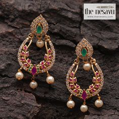 Shop Latest Kimi Girl earrings at The Nesavu available @ PSR SILKS salem online @ www.thenesavu.com Buy Earrings, Antique Earrings, Girls Earrings, Earrings Online, Fashion Jewelry Stores, Trendy Jewelry, Ear Cuff Jewelry, Korean Design, Trendy Collection