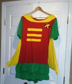 DIY batman / robin superhero costume for women.
