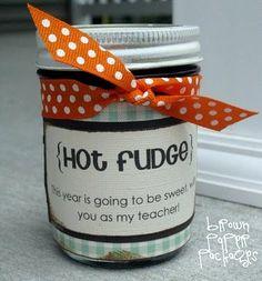{hot fudge teacher's gift} : Simply Kierste