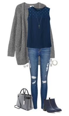 """""""Untitled #688"""" by sassy-and-southern ❤ liked on Polyvore featuring Monki, Frame Denim, Uniqlo, Michael Kors, Seychelles, Yves Saint Laurent, Marc by Marc Jacobs, Karen Kane, Tory Burch and sassysouthernwinter"""