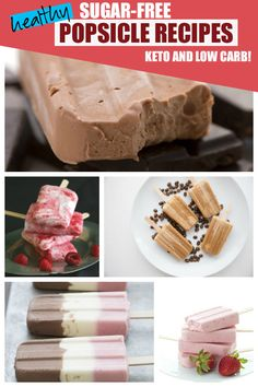 There are so many wonderful ways to make healthy keto popsicles. Here are 35 fan… There are so many wonderful ways to make healthy keto popsicles. Here are 35 fantastic low carb, sugar-free popsicle recipes to make your summer sweet! Ice Pop Recipes, Popsicle Recipes, Summer Recipes, Sugar Free Popsicles, Sugar Free Jello, Cherry Ice Cream, Keto Ice Cream, Tartiflette Recipe, Easy Treats To Make