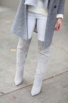 Aldo over-the-knee boots Fashion 101, Winter Fashion, Crystalin Marie, Leather Over The Knee Boots, Thigh High Boots, Winter White, Aldo, Winter Style, Passion For Fashion