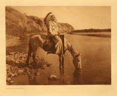 > Blackfoot, Bow River, by Edward S. Curtis