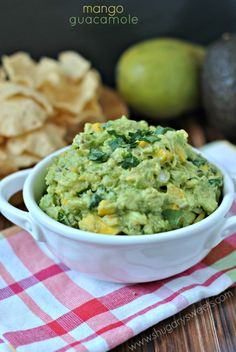 Mango Guacamole...sweet mangoes add a delicious depth of flavor to this classic snack!
