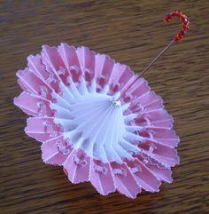 Parchment craft parasole umbrella - la passion de Mamisette