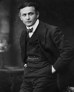 Houdini  A Hungarian-American magician and escapologist, stunt performer, actor and film producer, as well as a skeptic and investigator of spiritualists. He became world-renowned for his stunts and feats of escapology even more than for his magical illusions. Date and photographer: Unknown.