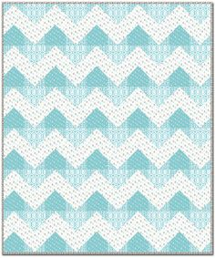 Free Projects | Chevron Quilt by Fabric Confetti | Cove by Camelot Design Studio