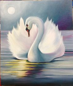 Muy bonito Swan Painting, Peacock Painting, Swan Drawing, Swan Wallpaper, Canvas Painting Projects, Swan Pictures, Reflection Art, Wildlife Paintings, Painting Patterns
