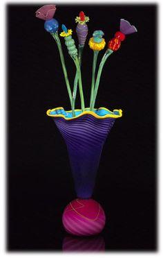Kliszewski Art-Glass Sculpture  by Bob Kliss and Laurie Kliss ♥༺❤༻♥