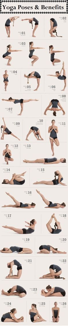 Yoga Poses & Benefits #flexible #strong #fitness