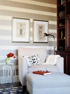 Gray stripped wall