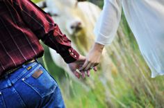 Engagement session w/pet Rustic ❤️ Country Wedding Fur babies Perfect country photo ideas  Cattle in the photos