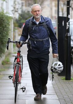 Jeremy Corbyn was on his morning cycle