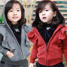 Aliexpress.com : Buy 2014 autumn girls clothing baby child long sleeve with a hood cardigan wt 1210 on Kids Fashion Clothing - Worldwide Who...