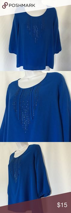 SONOMA SIZE L ROYAL BLUE TOP In perfect condition .To sizes 10-12 Sonoma Tops