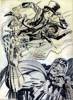 """"""" Jack Kirby meeting Paul & Linda McCartney at a Wings show at the LA Forum in Paul dedicated """"Magneto and Titanium Man"""" to Jack at the show. In return, Jack gave Paul this piece of art. Comic Book Pages, Comic Book Artists, Comic Book Covers, Comic Books Art, Comic Art, Jack Kirby, Linda Eastman, Paul And Linda Mccartney, Wings Drawing"""