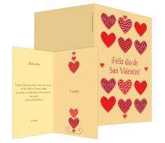 Corazones (crema) - #felicitación de #SanValentín