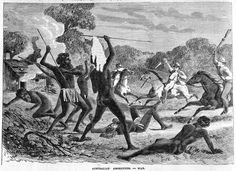 Aborigines and white settlers in battle.... Myall Creek massacre 1838 Twenty-eight Indigenous people are killed by convicts, ex-convicts and one native-born settler at Myall Creek. Eleven Europeans are charged with murder but are acquitted. A new trial finds seven guilty and they are hanged. A Border Police force is formed amid escalating violence between settlers and Indigenous people. Museum of Australian Democracy at Old Parliament House