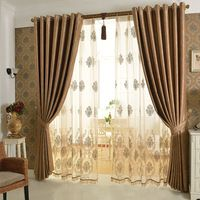 Delightful European Luxury Curtain Cortina Windows Screening Bedroom Screen Curtains  For Living Room Free Shipping Photo Gallery