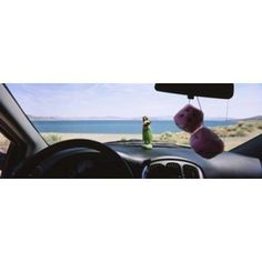Lake viewed through the windshield of a car Pyramid Lake Washoe County Nevada USA Canvas Art - Panoramic Images (36 x 13)