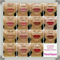 Younique Opulence Lipstick Shades