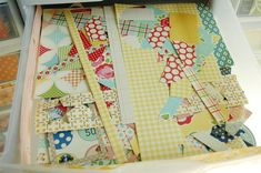 i think I need this...a drawer for Oct. Afternoon scraps that I cant bear to throw away....even the littlest pieces!