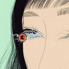 "nevver: ""See, Miki Kim "" Arte Horror, Horror Art, Pretty Art, Cute Art, Art Sketches, Art Drawings, Psychedelic Art, Pics Art, Surreal Art"