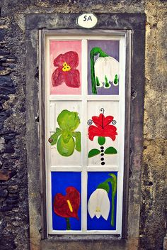 Flower-door 5A in Funchal, Madeira