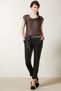 Ribboned Velvet Trousers by Elevenses