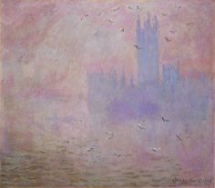 Claude Monet: The Houses of Parliament, Seagulls, 1903