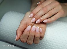 French hybrydowy :) by asia_beautynails French Nails, Nailart, Manicure, Asia, Instagram Posts, Beauty, Nail Bar, French Tips, Nails