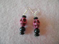 Earrings 065 Skull Daddy by AllMyEarrings on Etsy