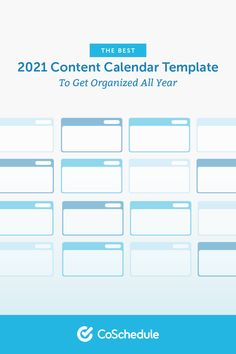 The Best 2021 Content Calendar Template to Get Organized All Year Content Marketing Strategy, Marketing Tools, Social Media Marketing, Marketing Calendar, Getting Organized, How To Get, Organization, Templates, Organisation