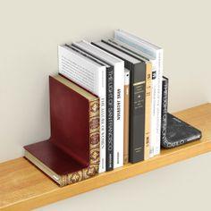 Uma ideia criativa de apoiador de livros para sua estante! O que você achou?
