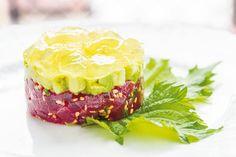 Tartare di tonno, con avocado e gelatina di limoni