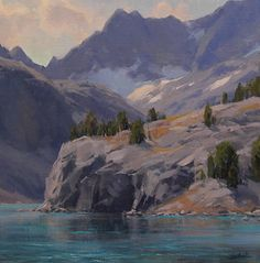 Icy Water by Jesse Powell Oil ~ 16 x 16