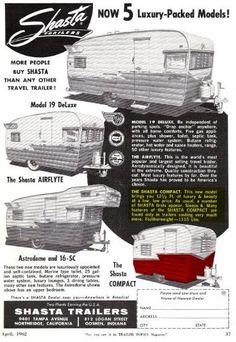 Shasta Model Lineup
