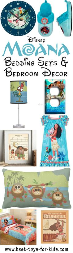 Best Disney Moana Bedroom Decor - Bedding Sets, Sheets, Pillow Cases,Throw Pillows, Wall Art, Light Switch Covers, Lamps, Night Lights, Rugs, Clocks, Window Covers And Sleepwear