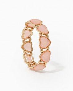 Sparkly Heart Stretch Bracelet from Charming Charlie. #charmingcharlie #ShopHV