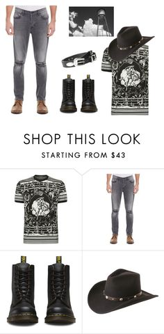 """""""The bad Boy Act 1"""" by miss-a-belle ❤ liked on Polyvore featuring Dolce&Gabbana, Hudson Jeans, Dr. Martens, M&F Western, men's fashion and menswear"""