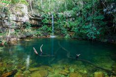 A incrível Cachoeira fica dentro da Fazenda Loquinhas, próxima ao Centro de Alto Paraíso de Goiás, n... - Reprodução