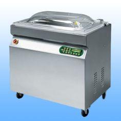 Samostojeće vakumirke s komorom  EPA 900 -dimenzije: 1040x680x1050 -dimenzije komore: 920x570x220 -širina varilice: 900 mm + 500 mm -vakum pumpa: Q= 100 m3/h -težina: 200 kg -napajanje: 380 V/50 Hz  -materijal: inox