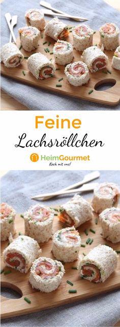 Einfache und schnell zubereitete Lachsröllchen aus Toastbrot, Frischkäse, Lachs & Schnittlauch. Perfekt, wenn kurzfristig Gäste kommen!