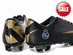 Argentine Chaussures de foot nike Mercurial Vapor Superfly III FG Noir Or Crampons Mercurial Pas Cher