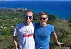 Shane Bitney Crone (L) and Tom Bridegroom March 9, 2005