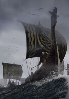 Viking Ship, Viking Art, Viking Woman, Viking Warrior Tattoos, Norse Mythology Tattoo, Viking Berserker, Valhalla, Viking Wallpaper, Viking Character