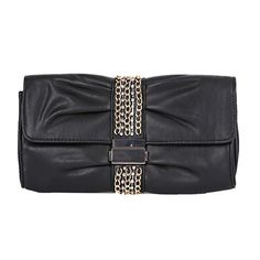 Zarapack Women's Rhinestone Pu Leather Evening Clutch Handbag Wedding Purse Black