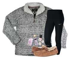 """""""2 MORE DAYS UNTIL CHRISTMAS!! (still 70 degrees)"""" by preppypuffpuff ❤ liked on Polyvore featuring NIKE, UGG Australia, Victoria's Secret, NARS Cosmetics, Kenneth Jay Lane and iDeal of Sweden"""